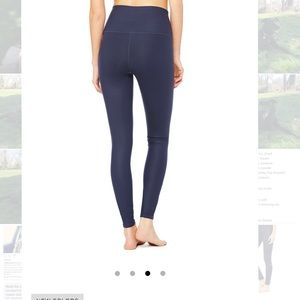 Alo yoga airbrush legging Navy glossy (SOLD OUT)